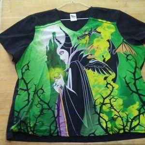 Maleficent scrub top women's size 3XL